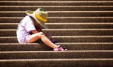 Boy on Opera House steps