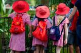 Schoolgirls at zoo