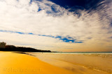 Freshwater beach with clouds