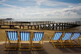Deckchairs at Southend on Sea