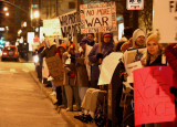 local protest to Bush surge