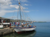 arrive at the port of Miragoane to get on the boat to go to La Gonave