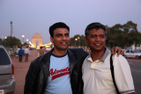 With Prajeet at the gate