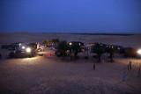 The camp at night.