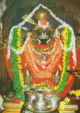 Sri Yoga narasimhar in pushpAlakAra tirukkolam