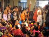 H H Srimath Andavan is greeted by H H Rangapriya Swami