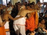 H H Andavan Swami Getting Mariyadai from a devotee