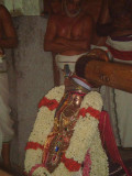 swamy desikan  with  perumal anugraham parivattam &garland