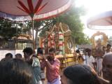 PerumAL and ThAyAR majestically in puRappAdu followed by ThiruppAvai jEyar.jpg