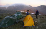 Dec 2006 Winter Solstice camp on Beinn a' Ghlo Scotland