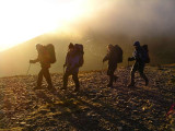 Scotland walking after winter solstice camp on Beinn a Ghlo