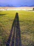 achnahaird campsite long shadows