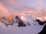 Barre de Ecrin at sunset from the hut