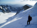 Looking down Glacier Blanc from the BdE