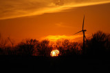 Windfarm at Sunset