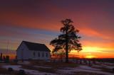 Old Brick Church at Sunset