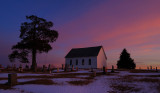 Old Brick Church at Sunset (View to South)