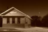 Moon & Albany's Depot (Sepia)