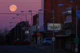 Moon & Downtown Albany