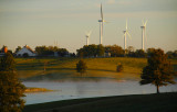 Windmills with Pond