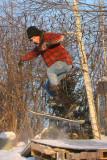 Le passionné de skate....l'hiver par contre c,est le snow skate
