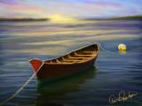 Sunset Sailor 's Boat