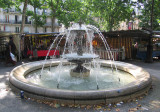 The fountain at Place Monge