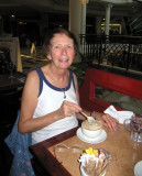 Dinner with Pat at Caf� Rouge