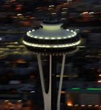 space needle flyby