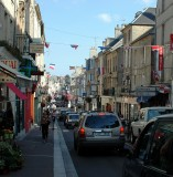 crowded street in Bayeux
