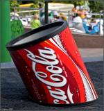 Coca-Cola waste-bin