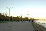Baku boardwalk along the Caspian Sea