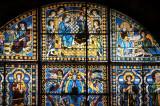 Rose window: Duccio di Buoninsegna, or Cimabue)