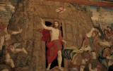 Blurred, but interesting Resurrection tapestry