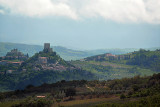 Rocca d'Orcia and Castiglione d'Orcia, seen from the road