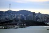 Zoomed. Bridge on both sides of Treasure Island
