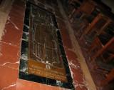 Inside, honorary aisle tile