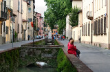 Canal on Via del Fosso - in the Old City of Lucca