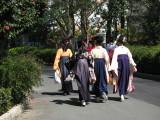 Girls in graduation kimono