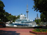 Central Park fountain and TV Tower
