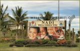 Street Corner Advertising in Nandi / Nadi, Fiji