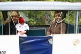Aunti Carli, Charli and Julie in the little train
