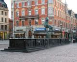 Folke Filbyter Statue in the Stora Torget
