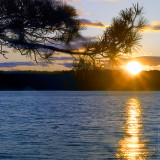 Sunset over the Cliff Pond