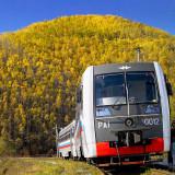 Tourist train at the Circumbaikal Railway