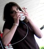 Multitasking waitress