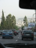 just arrived! traffic in Athens