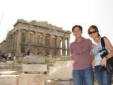 the Parthenon undergoing restoration work