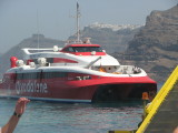 our ride, from the Hellenic Seaways fleet. Shell logo na lang, ala-F1 na! :)