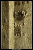 An old wooden door in Nizwa fort
